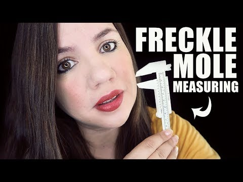 FRECKLE and SKIN MOLE Measuring | ASMR DOCTOR ROLEPLAY | Soft Talk