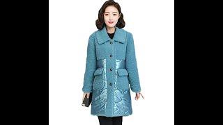 Женская зимняя куртка размера плюс 5xl 2020 теплое пальто стильная парка из блестящей ткани