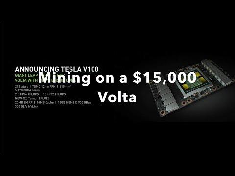 Mining On A $15,000 Tesla V100