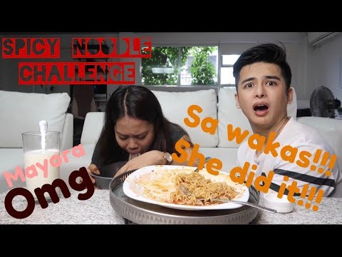 SA WAKAS!!! SHE DID IT! SPICY NOODLE CHALLENGE with BANINAY BAUTISTA