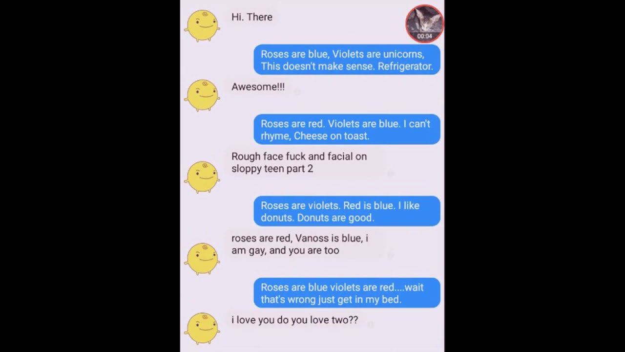 Chat with simsimi ( roses are red violet are blue joke and ...
