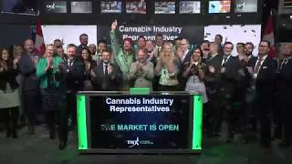 Cannabis Industry Representatives Open Toronto Stock Exchange, October 17, 2018