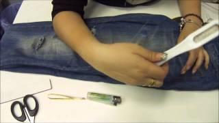 como hacer vaqueros rotos o desgastados   ,ripped jeans
