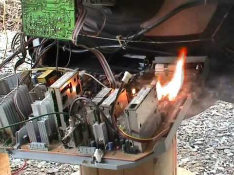 For House Wiring Circuit Breaker Tv Circuit Board Burn Out On 600 Volts Ac Part 1 Youtube