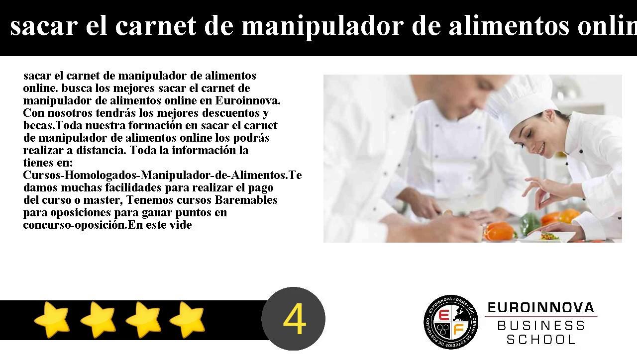 sacar el carnet de manipulador de alimentos online - youtube