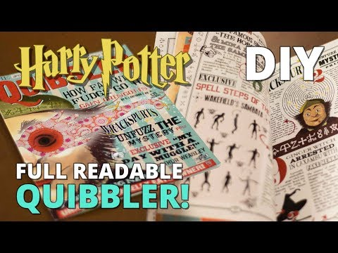 image regarding Quibbler Printable called Do-it-yourself Quibbler - Comprehensive Readable Journal! - YouTube
