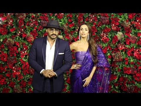 Arjun Kapoor With Girlfriend Malaika Arora At  Ranveer Deepika Wedding Reception