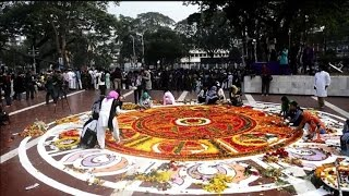 Bangladeshis pay respects to 'martyrs' on anniversary
