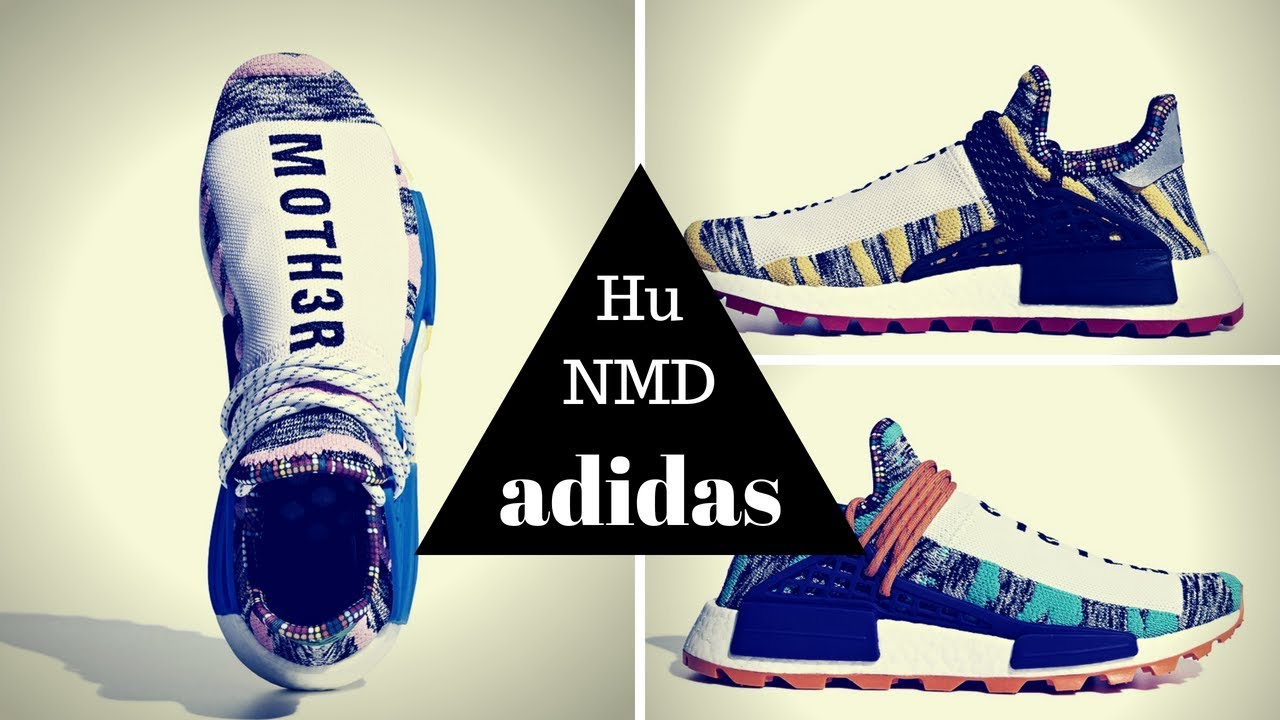 8a96d7f96 Awesome New Design from Pharrell adidas NMD Hu Solar Pack - YouTube