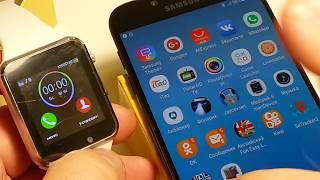 Как настроить и подключить умные часы DZ09 . GT08. A1. smart watch A1