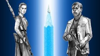Star Wars - Finn VS Rey pencil drawing comparison