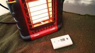 Carbon Monoxide Test using a Propane Heater in a Tent - 16 Hour Test. (Mr. Heater)