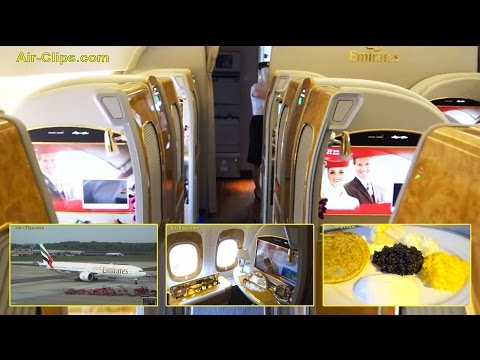 Emirates Boeing 777-300ER First Class FULL FLIGHT Hamburg-Du