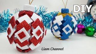 DIY Christmas Ornaments glitter foam | Liam Channel