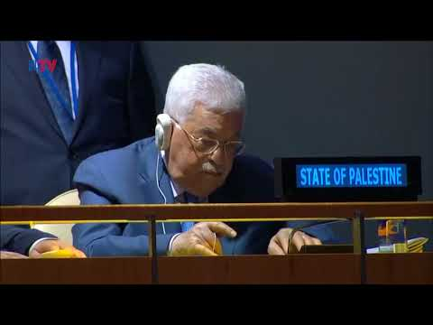 World Leaders Talk Mideast Peace At UN General Assembly - Sep. 26, 2018