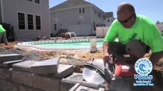 San Juan Fiberglass Pool Installation - Stardust Model