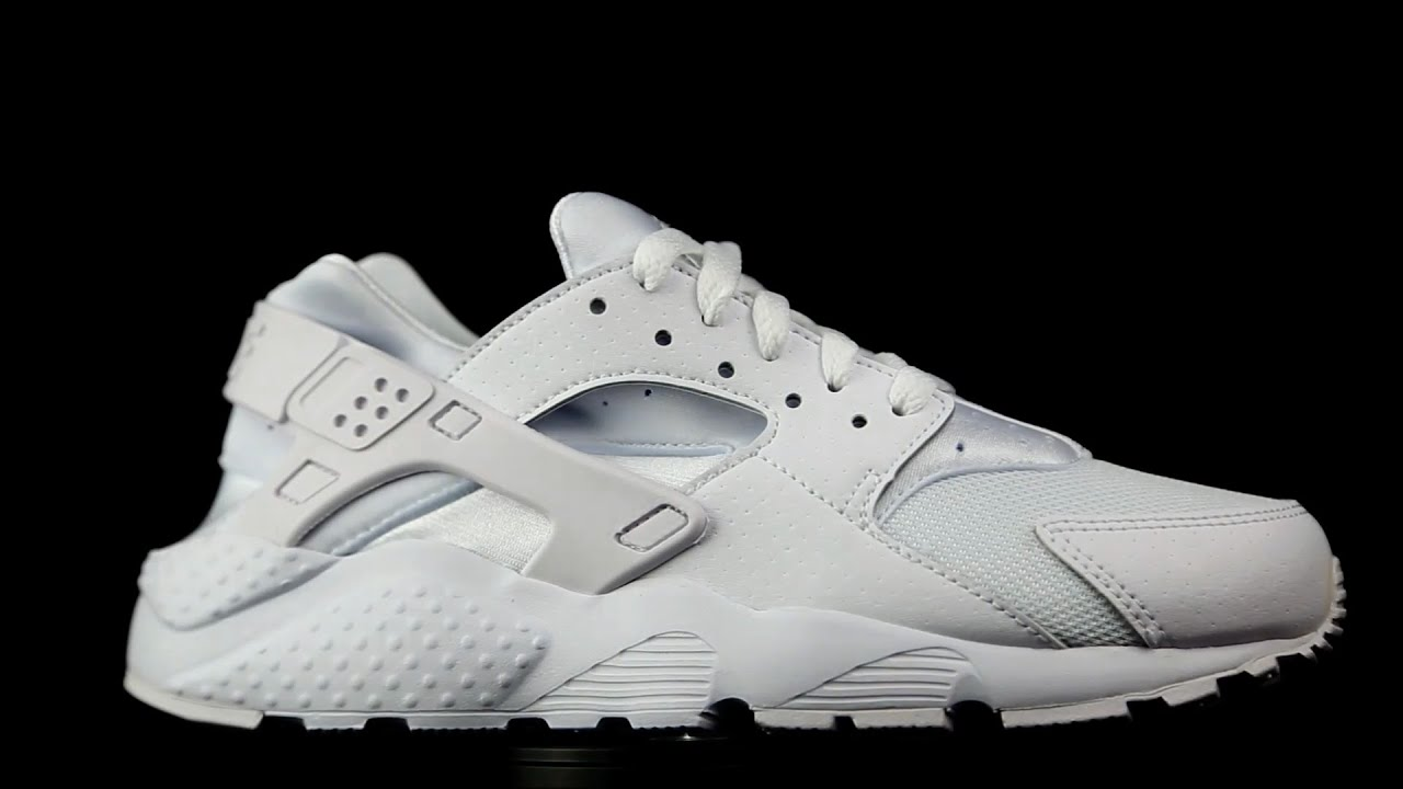 Nike Air Huarache total white YouTube
