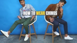 The 5 MOST STYLISH Ways To Wear Chinos | How to Wear Chinos For Guys