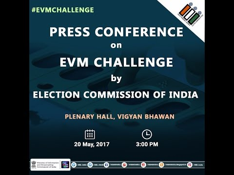 Press Conference by #ElectionCommission on #EVMChallenge