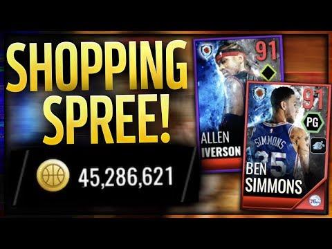 40 MILLION COIN SHOPPING SPREE FOR 91 BEN SIMMONS & ALLEN IVERSON! NBA LIVE Mobile 18
