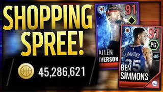 40 MILLION COIN SHOPPING SPREE FOR 91 BEN SIMMONS & ALLEN IVERSON! NBA LIVE Mobile 18