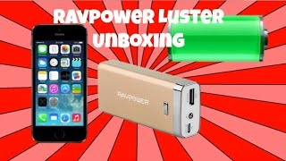 Unboxing Of the RAVPower Luster 6000mAh External Battery Pack For Android & Apple Device