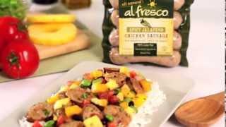 Al Fresco Spicy Jalapeño Chicken Sausage With Mango Pineapple Chili And Jasmine Rice