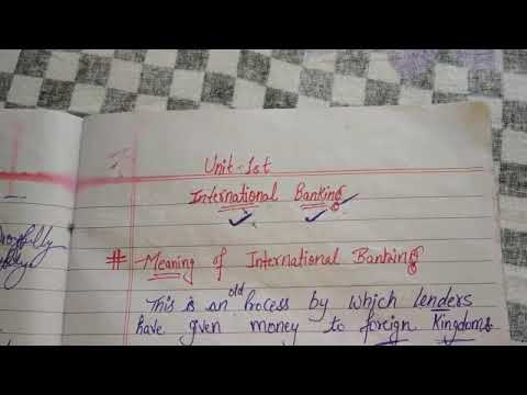 International Banking - Features , Characteristics , Advantages , Functions and Importance...