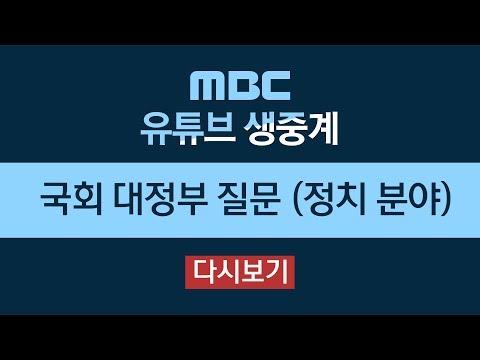국회 대정부질문…선거제 개편안 패스트트랙 등 쟁점-[LIVE] MBC 생중계 2019년 03월 19일