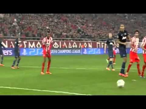 Los goles de Olympiakos 2-0 Manchester United