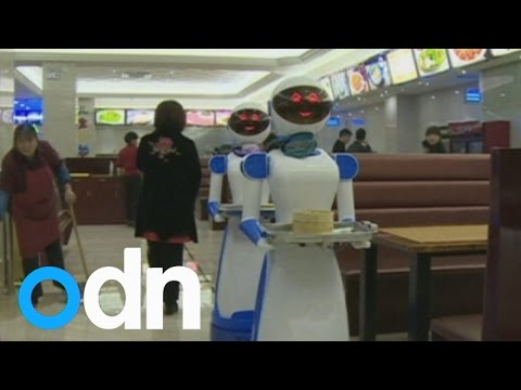 Restaurant in China hires robots as waiters