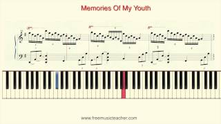 "How To Play Piano: Richard Clayderman ""Memories Of My Youth"" Piano Tutorial by Ramin Yousefi"