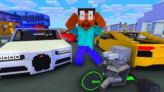 Monster School : RACING CAR Challenge - Minecraft Animation
