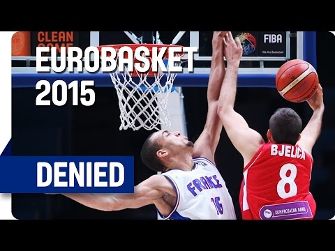 Bjelica Blocked by Gobert - EuroBasket 2015