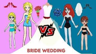 Paper Dolls Angel And Evil Bride Dress Up Wedding Papercraft
