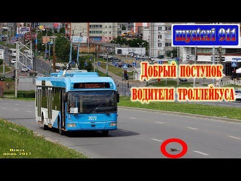 Добрый  поступок водителя троллейбуса.