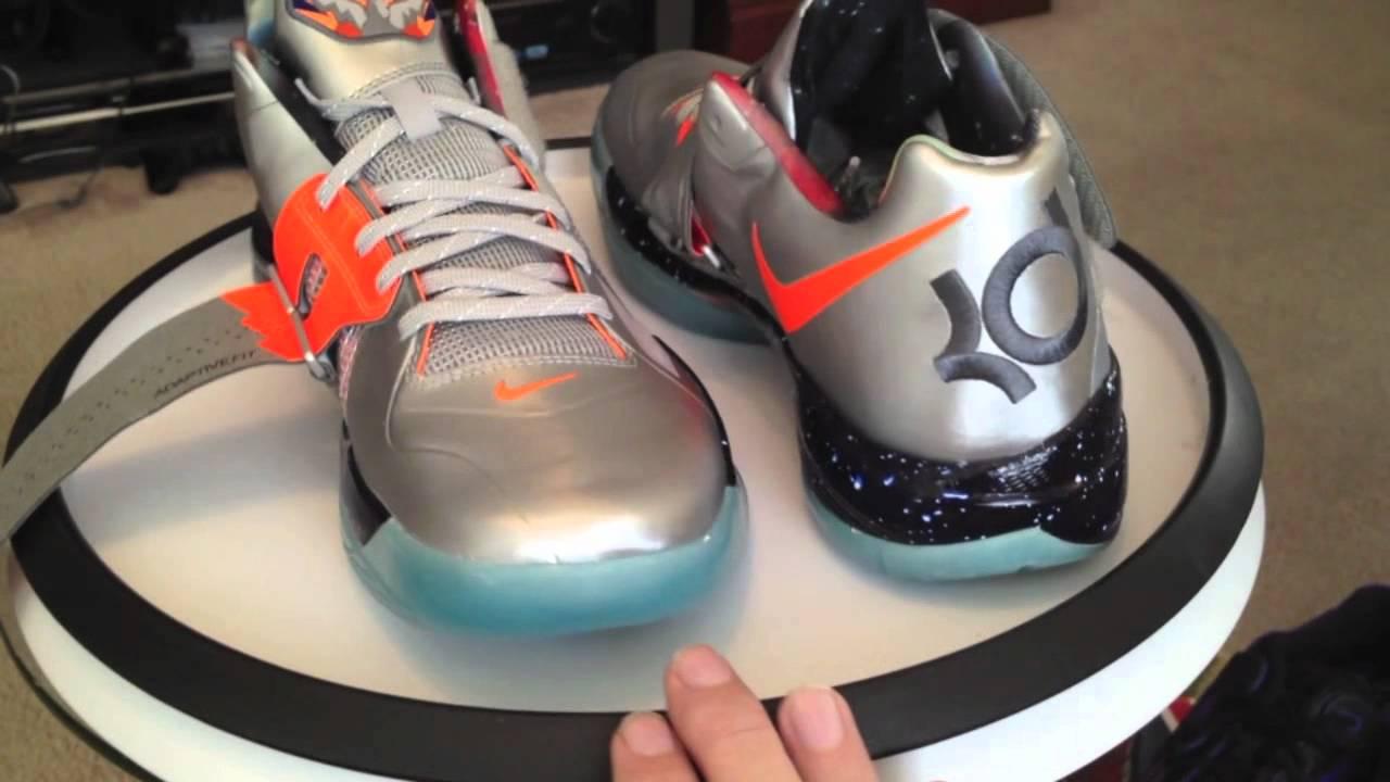 Nike Zoom KD IV (4) AS - All Star Game 2012 - Metallic Silver / Total  Orange / Dark Grey colorway