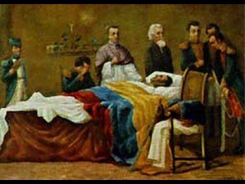 Resultado de imagen para Fotos de la muerte de Simón Bolívar