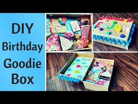 DIY Birthday Gift Goodie Box /Care Package for Him/Her