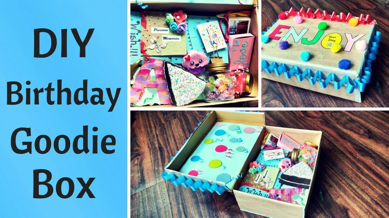 DIY Birthday Gift Goodie Box Care Package For Him Her