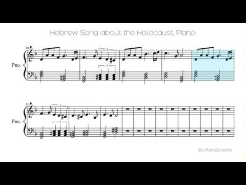 Hebrew Song about the Holocaust [Piano Solo]