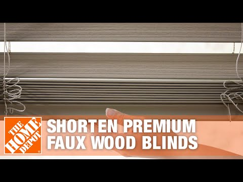 How To Shorten Premium Faux Wood Blinds The Home Depot Youtube