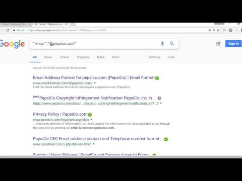 How to find a company email address using Google Search Engine