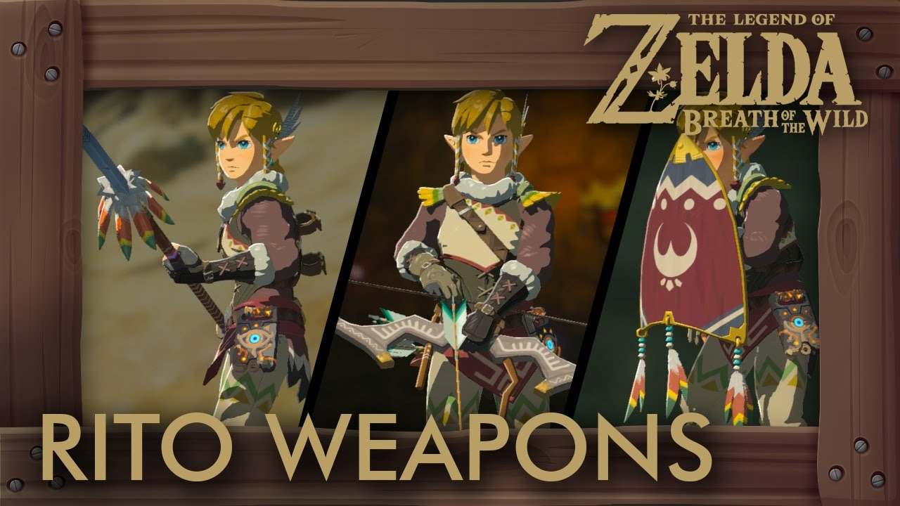 Zelda Breath of the Wild - All Rito Weapons (Complete Set Location)