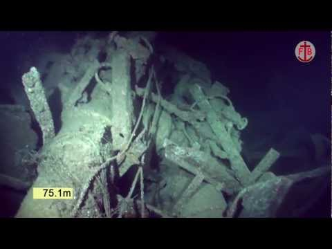 Underwater video of the wreck of HMS Charybdis, filmed in 2009