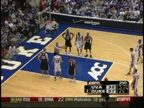 J.J. Redick 40 points vs Virginia