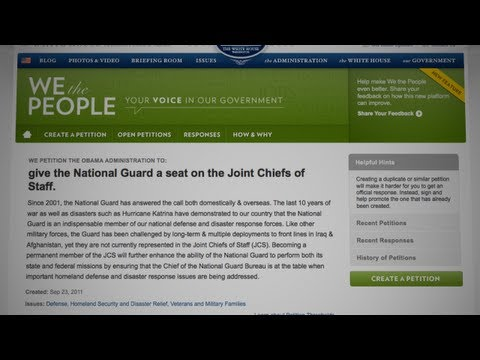 """""""We The People"""" Petition Response: The National Guard on the Joint Chiefs of Staff"""