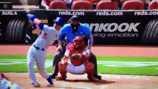 Bellinger Doubles in Seager Vs Reds