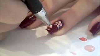 Как сделать красивый маникюр  Дизайн ногтей  Уроки маникюра ,winter manicure
