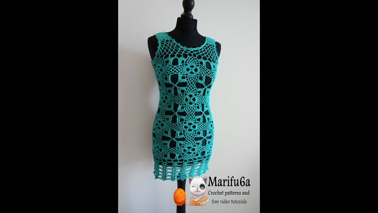 Free Crochet Tunic Pattern For Beginners : How to crochet tunic dress pattern free tutorial all sizes ...